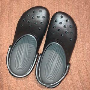 Silver Crocs